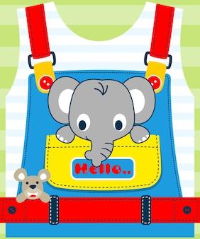 Ładne zwierzęta kreskówka na dzieci ubrania wzór