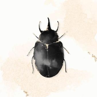 Ładny akwarela chrząszcz atlas