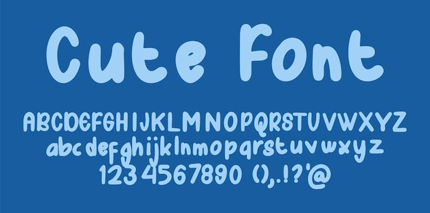 Ładny alfabet czcionek
