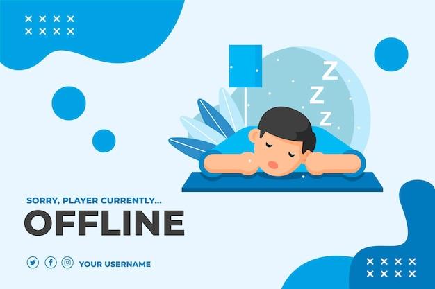 Ładny banner twitch offline