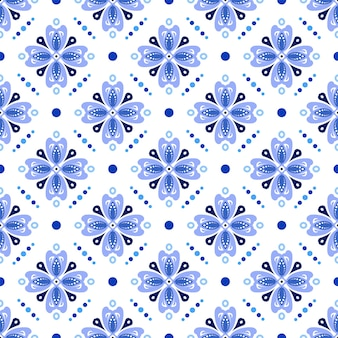 Ładny batik niebieski wzór