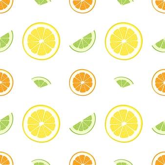 Ładny bezszwowy jasny wzór owoców cytrusowych