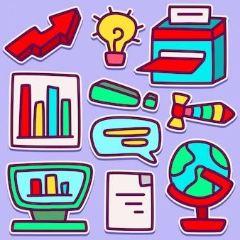 Ładny biznes doodle projekt