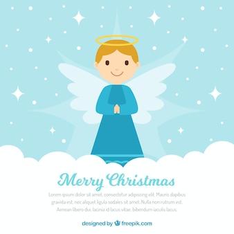 Ładny boże narodzenie anioł tło