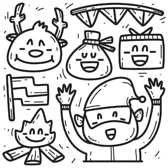 Ładny boże narodzenie doodle