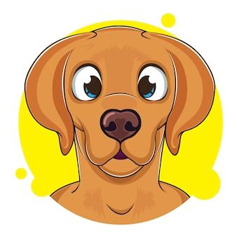 Ładny brązowy awatar psa