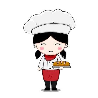 Ładny charakter dziewczyna szefa kuchni
