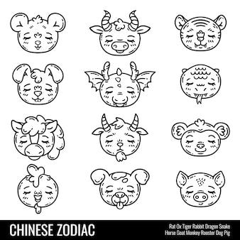 Ładny chiński zodiak.