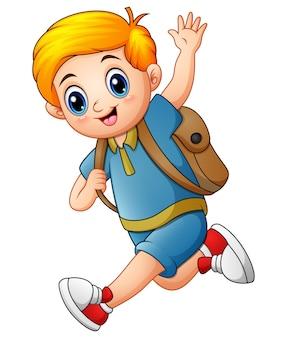 Ładny chłopak chodzić do szkoły