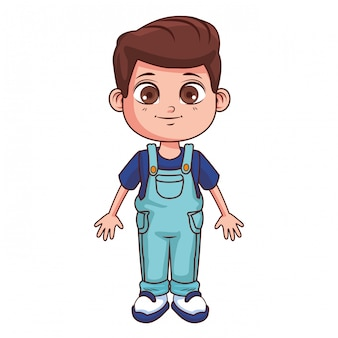 Ładny chłopak kreskówka