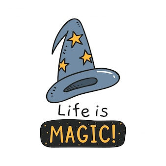 Ładny design z czapką czarownicy