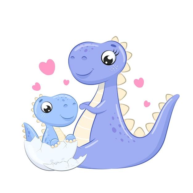 Ładny dinozaur clipartów ilustracja kreskówka