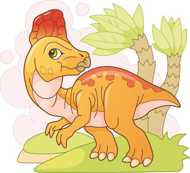 Ładny dinozaur z kreskówek