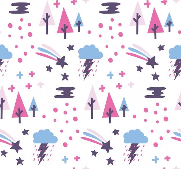 Ładny doodle streszczenie tło bez szwu