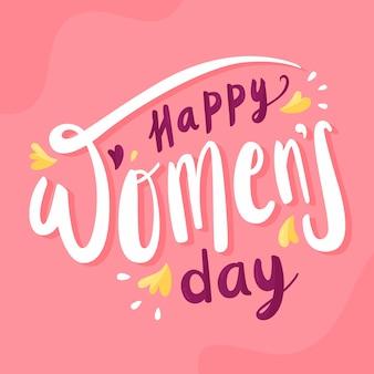 Ładny dzień kobiet napis