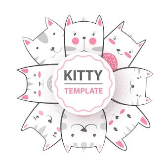 Ładny, fajny, śliczny, zabawny, szalony, piękny kot, kotek