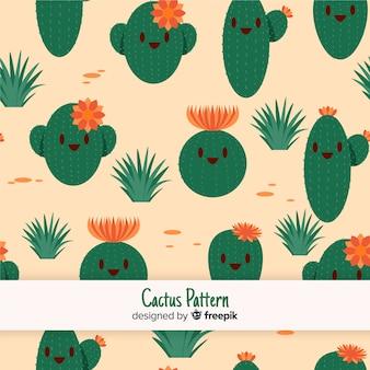 Ładny kaktus wzór
