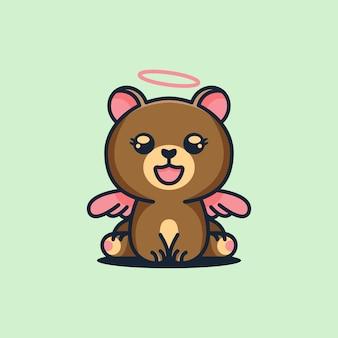 Ładny kąt niedźwiedź logo