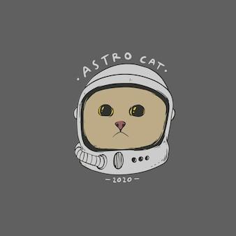 Ładny kot astronauta