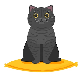Ładny kot brytyjski piękne logo dla sklepu weterynaryjnej kliniki hotelowe banery reklama wb i pocztówki wektor ilustracja na białym tle ilustracji wektorowych