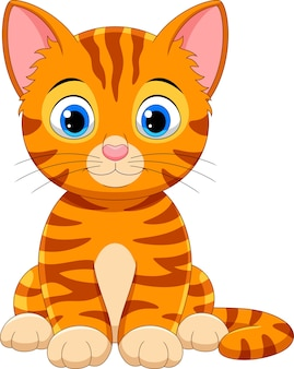 Ładny kot kreskówka