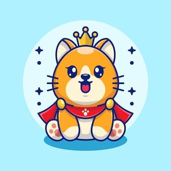Ładny kot króla zabawny