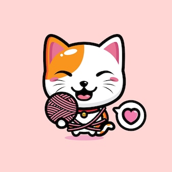 Ładny kot maskotka