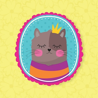 Ładny kot z koroną