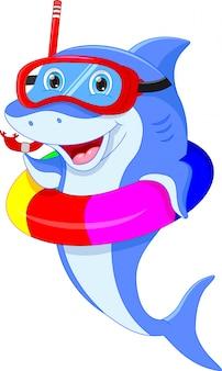 Ładny kreskówka delfin