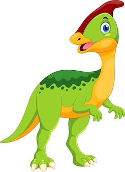 Ładny kreskówka dinozaur parazaurolof