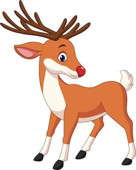 Ładny kreskówka jelenia