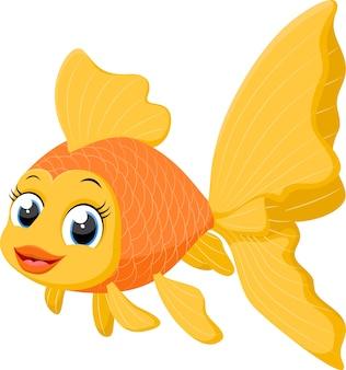 Ładny kreskówka rybka