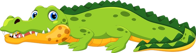 Ładny krokodyl kreskówka