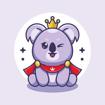 Ładny król koala zabawny