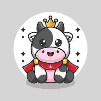 Ładny król krowa zabawny