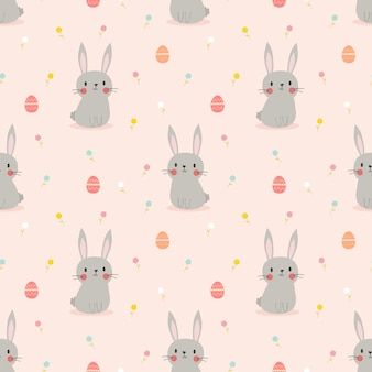 Ładny królik i pisanki wzór.