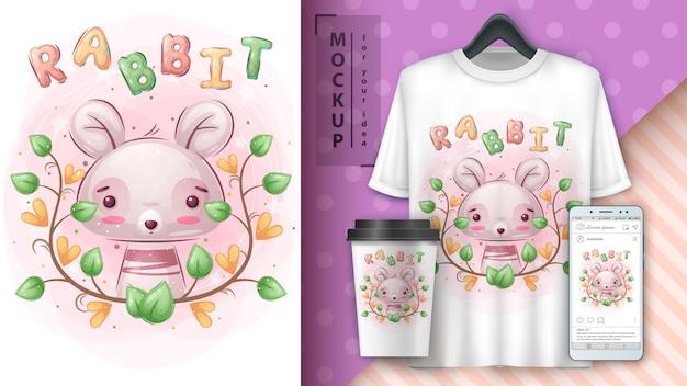 Ładny królik - plakat i merchandising.