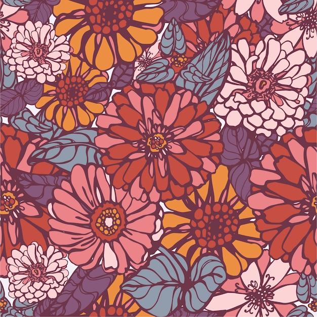 Ładny kwiat wektor wzór
