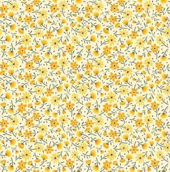 Ładny kwiatowy wzór w małe żółte kwiaty. ditsy print. bez szwu.