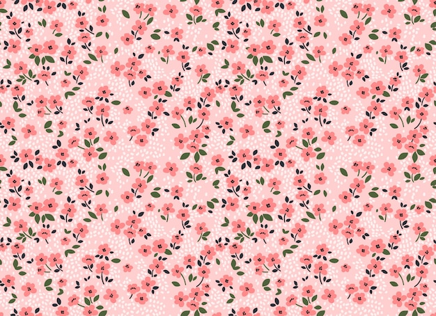 Ładny kwiatowy wzór w małych kwiatkach. drobny nadruk. bezszwowe tło wektor.