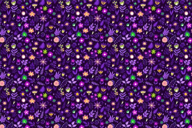 Ładny kwiatowy wzór z małymi kwiatami