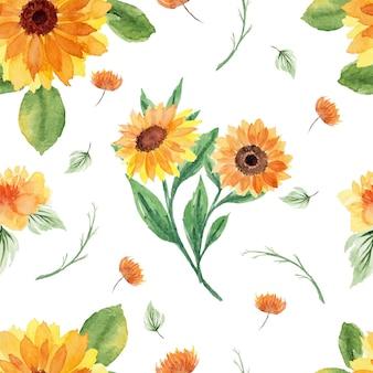 Ładny letni kwiatowy wzór bez szwu
