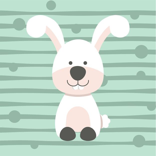 Ładny mały królik miękki kolor dzieci t shirt