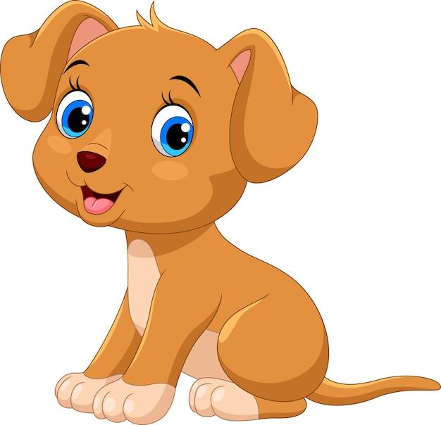 Ładny mały pies kreskówka