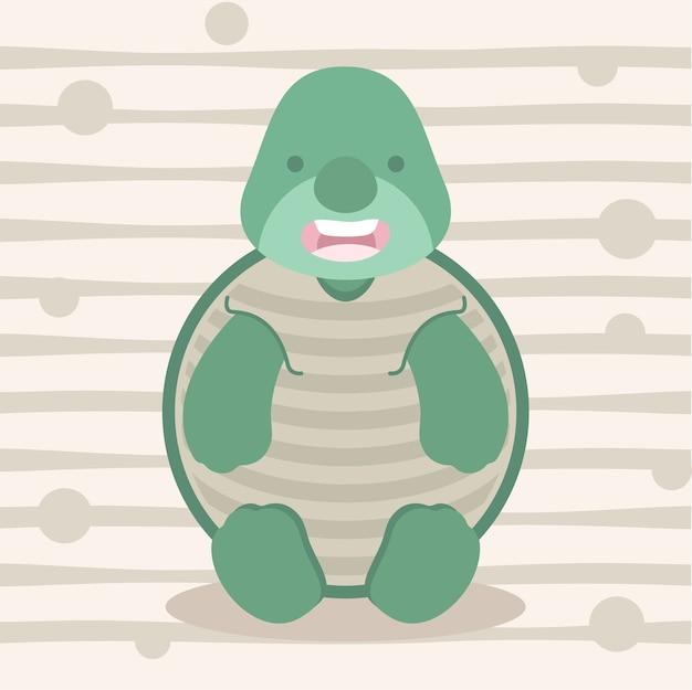 Ładny mały żółw miękki kolor dzieci t shirt design