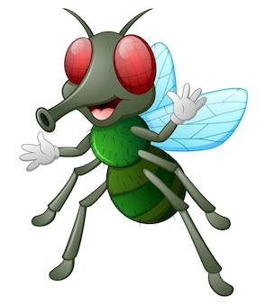 Ładny mucha zwierząt macha ręką