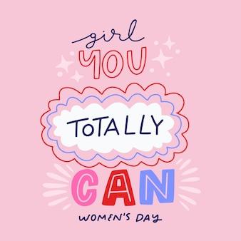 Ładny napis kobiet dzień
