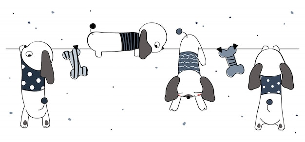 Ładny pies ilustracja
