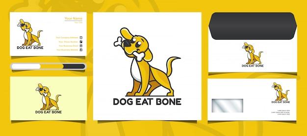 Ładny pies logo i szablon tożsamości marki