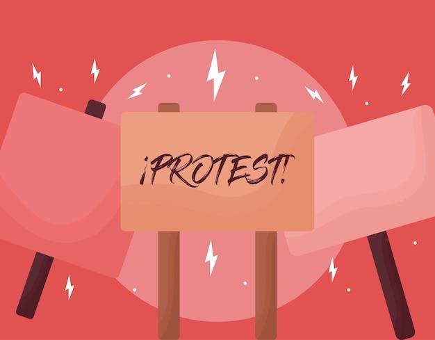 Ładny plakat protestacyjny